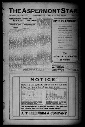 The Aspermont Star (Aspermont, Tex.), Vol. 11, No. 16, Ed. 1 Thursday, October 22, 1908