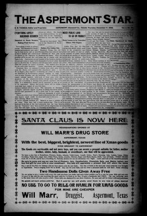 The Aspermont Star (Aspermont, Tex.), Vol. 11, No. 24, Ed. 1 Thursday, December 17, 1908