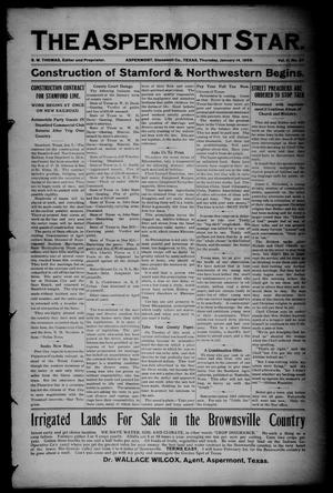 The Aspermont Star (Aspermont, Tex.), Vol. 11, No. 27, Ed. 1 Thursday, January 14, 1909