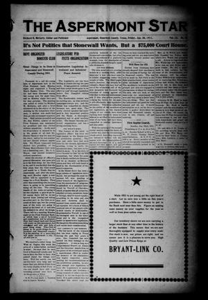 The Aspermont Star (Aspermont, Tex.), Vol. 13, No. 27, Ed. 1 Friday, January 20, 1911