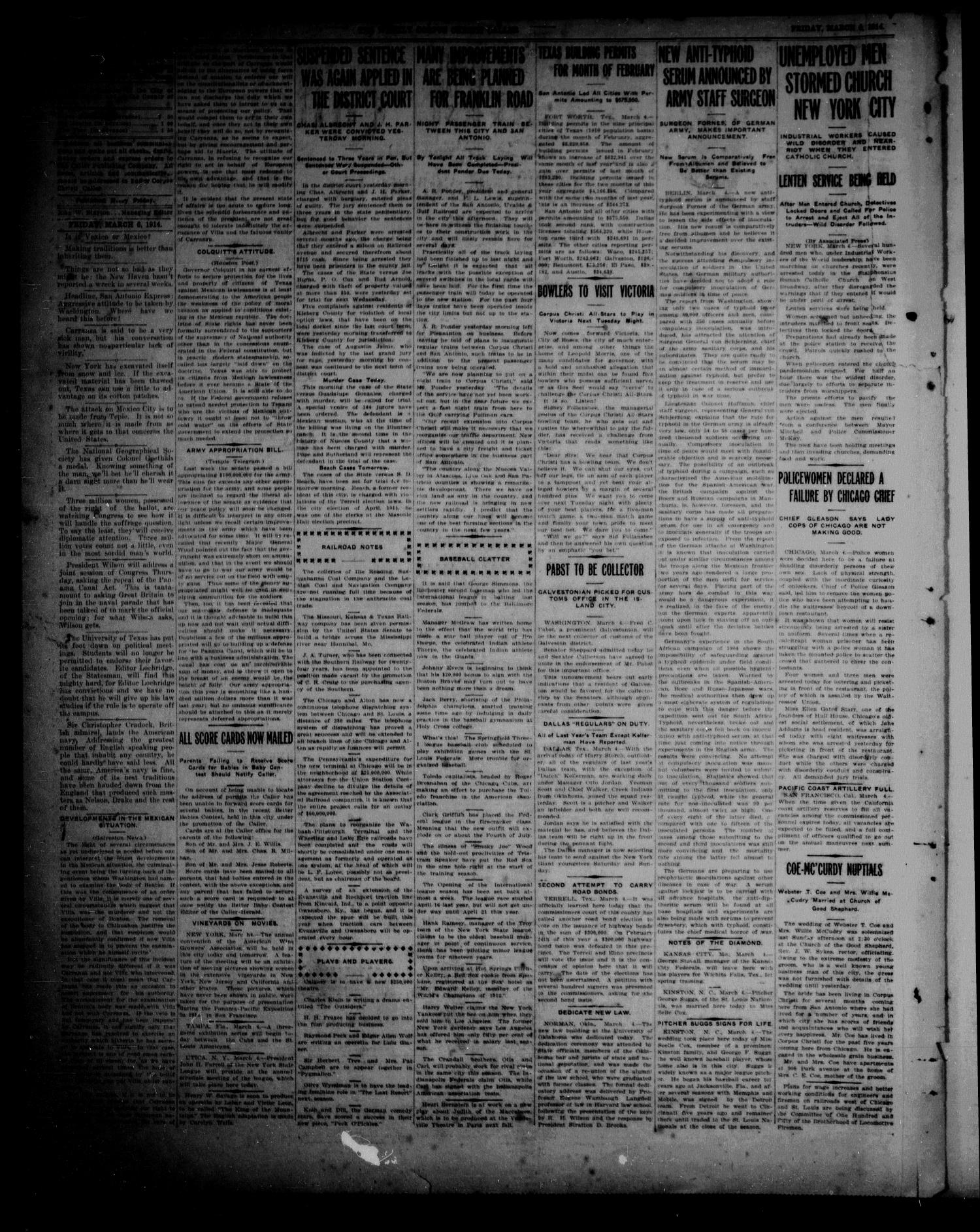 The Weekly Corpus Christi Caller (Corpus Christi, Tex.), Vol. 22, No. 7, Ed. 1 Friday, March 6, 1914                                                                                                      [Sequence #]: 2 of 8