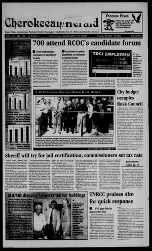 Cherokeean/Herald (Rusk, Tex.), Vol. 151, No. 30, Ed. 1 Thursday, September 14, 2000