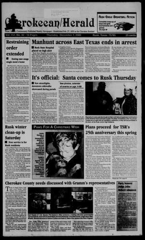 Cherokeean/Herald (Rusk, Tex.), Vol. 151, No. 42, Ed. 1 Thursday, December 7, 2000