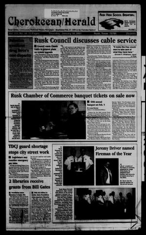 Cherokeean/Herald (Rusk, Tex.), Vol. 151, No. 48, Ed. 1 Thursday, January 18, 2001