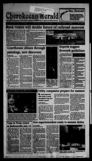 Cherokeean/Herald (Rusk, Tex.), Vol. 152, No. 19, Ed. 1 Thursday, June 28, 2001