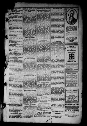Primary view of object titled 'Burleson County Ledger and News-Chronicle (Caldwell, Tex.), Vol. 27, No. 3, Ed. 1 Friday, March 17, 1911'.