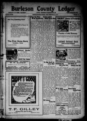 Primary view of object titled 'Burleson County Ledger and News-Chronicle (Caldwell, Tex.), Vol. 28, No. 30, Ed. 1 Friday, September 27, 1912'.