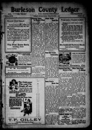 Primary view of object titled 'Burleson County Ledger and News-Chronicle (Caldwell, Tex.), Vol. 28, No. 35, Ed. 1 Friday, November 1, 1912'.