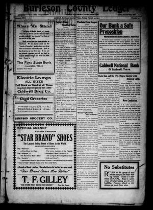 Primary view of object titled 'Burleson County Ledger and News-Chronicle (Caldwell, Tex.), Vol. 30, No. 2, Ed. 1 Friday, March 13, 1914'.