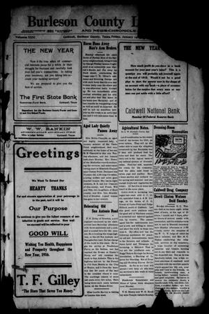Primary view of object titled 'Burleson County Ledger and News-Chronicle (Caldwell, Tex.), Vol. 31, No. 46, Ed. 1 Friday, January 14, 1916'.