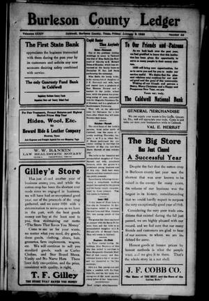 Primary view of object titled 'Burleson County Ledger and News-Chronicle (Caldwell, Tex.), Vol. 34, No. 44, Ed. 1 Friday, January 9, 1920'.