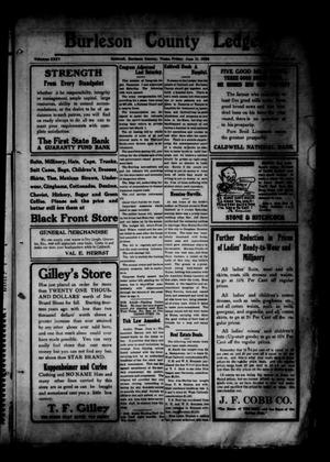 Primary view of object titled 'Burleson County Ledger and News-Chronicle (Caldwell, Tex.), Vol. 35, No. 15, Ed. 1 Friday, June 11, 1920'.