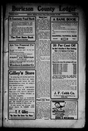 Primary view of object titled 'Burleson County Ledger and News-Chronicle (Caldwell, Tex.), Vol. 36, No. 38, Ed. 1 Friday, November 18, 1921'.
