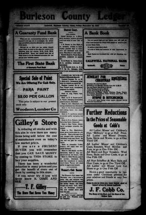 Primary view of object titled 'Burleson County Ledger and News-Chronicle (Caldwell, Tex.), Vol. 36, No. 42, Ed. 1 Friday, December 16, 1921'.