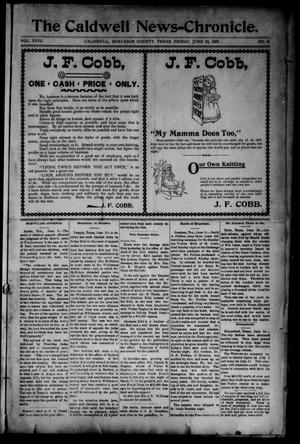 Primary view of object titled 'The Caldwell News-Chronicle (Caldwell, Tex.), Vol. 18, No. 5, Ed. 1 Friday, June 18, 1897'.