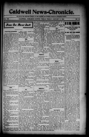 Primary view of object titled 'Caldwell News-Chronicle. (Caldwell, Tex.), Vol. 20, No. 33, Ed. 1 Friday, January 12, 1900'.