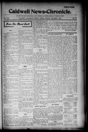 Primary view of object titled 'Caldwell News-Chronicle. (Caldwell, Tex.), Vol. 21, No. 19, Ed. 1 Friday, October 5, 1900'.