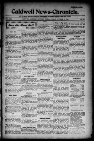 Primary view of object titled 'Caldwell News-Chronicle. (Caldwell, Tex.), Vol. 21, No. 21, Ed. 1 Friday, October 19, 1900'.