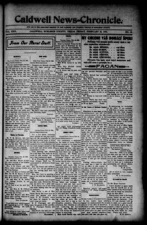 Primary view of object titled 'Caldwell News-Chronicle. (Caldwell, Tex.), Vol. 22, No. 40, Ed. 1 Friday, February 28, 1902'.