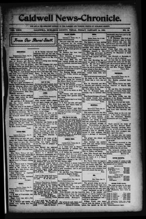 Primary view of object titled 'Caldwell News-Chronicle. (Caldwell, Tex.), Vol. 23, No. 34, Ed. 1 Friday, January 16, 1903'.