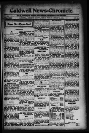 Primary view of object titled 'Caldwell News-Chronicle. (Caldwell, Tex.), Vol. 23, No. 35, Ed. 1 Friday, January 23, 1903'.