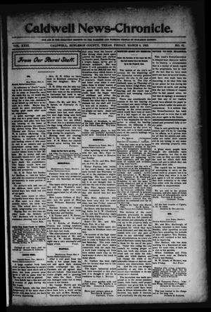 Primary view of object titled 'Caldwell News-Chronicle. (Caldwell, Tex.), Vol. 23, No. 41, Ed. 1 Friday, March 6, 1903'.