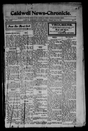 Primary view of object titled 'Caldwell News-Chronicle. (Caldwell, Tex.), Vol. 24, No. 1, Ed. 1 Friday, May 29, 1903'.
