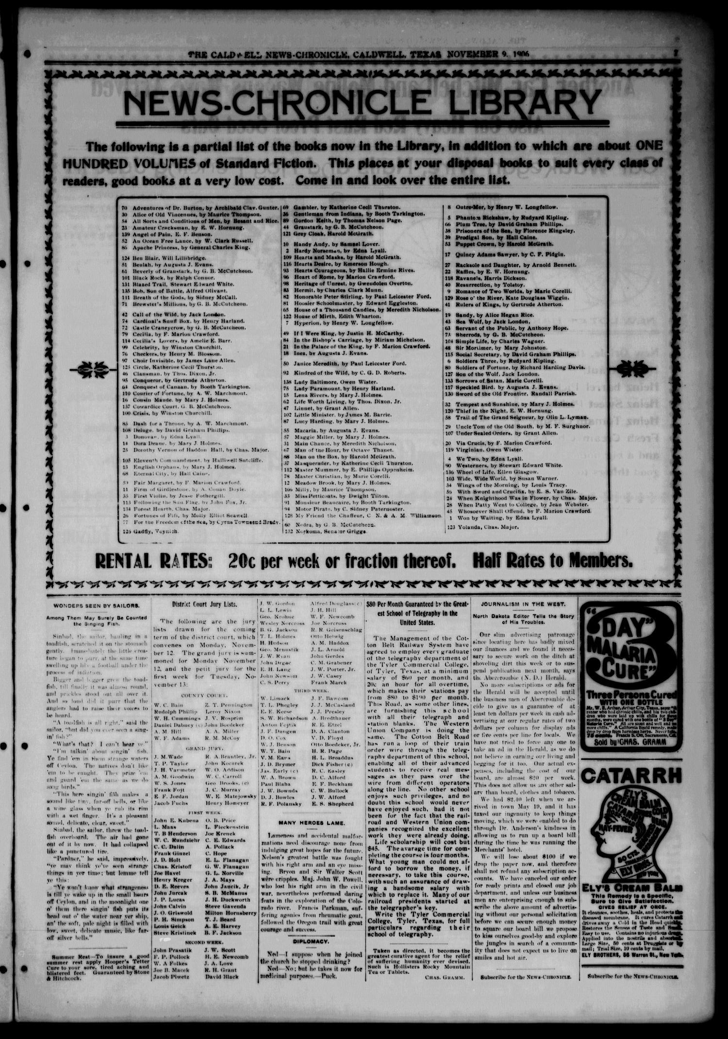 Caldwell News-Chronicle  (Caldwell, Tex ), Vol  27, No  25