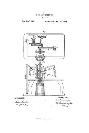 Primary view of object titled 'Improvement in Motors.'.