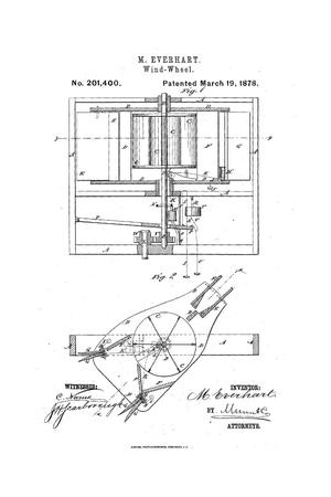 Primary view of object titled 'Improvement in Wind-Wheels.'.