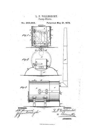 Primary view of object titled 'Improvement in Camp-Stoves.'.