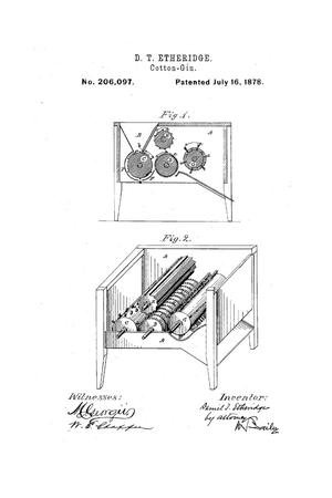 Primary view of object titled 'Improvement in Cotton-Gins.'.