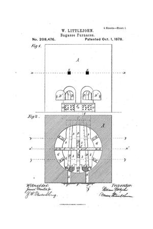 Primary view of object titled 'Improvement In Bagasse-Furnaces.'.