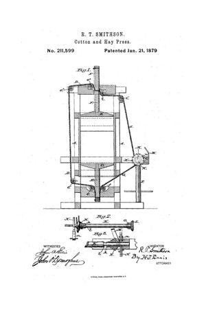 Primary view of object titled 'Improvement in Cotton and Hay Presses.'.