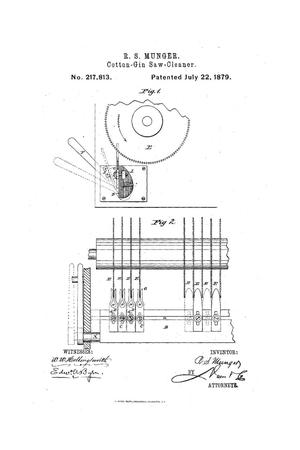 Primary view of object titled 'Improvement in Cotton-Gin-Saw Cleaners.'.