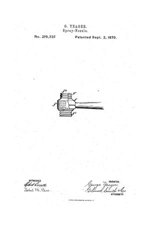 Primary view of object titled 'Improvment in Spray-Nozzles'.