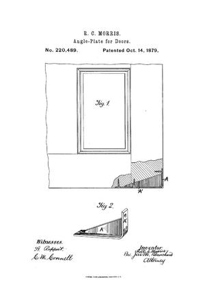 Primary view of object titled 'Improvement in Angle-Plates for Doors.'.