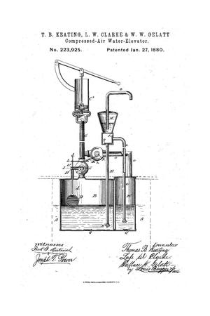 Primary view of object titled 'Compressed-Air Water-Elevator.'.