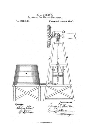 Primary view of object titled 'Governor for Water-Elevators.'.