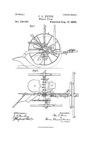 Primary view of object titled 'Wheel-Plow.'.