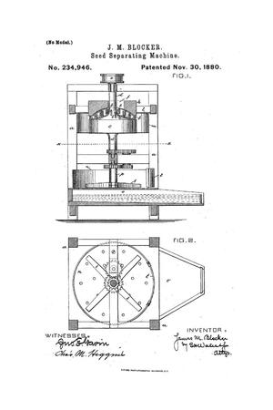 Primary view of object titled 'Seed Separating Machine.'.
