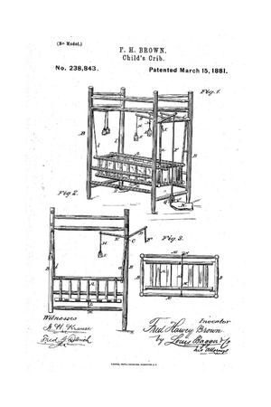 Primary view of object titled 'Child's Crib.'.
