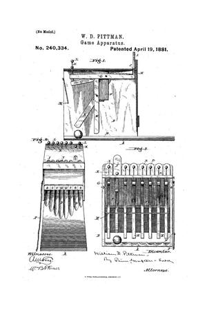 Primary view of object titled 'Game Apparatus.'.