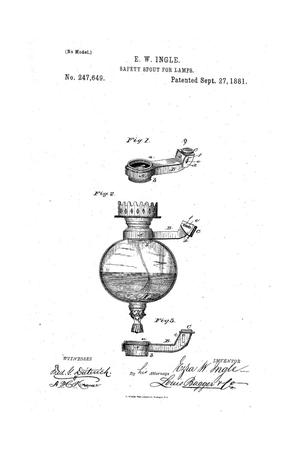 Primary view of object titled 'Safety Spout for Lamps.'.