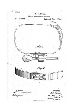 Primary view of object titled 'Pistol and Carbine Holder.'.