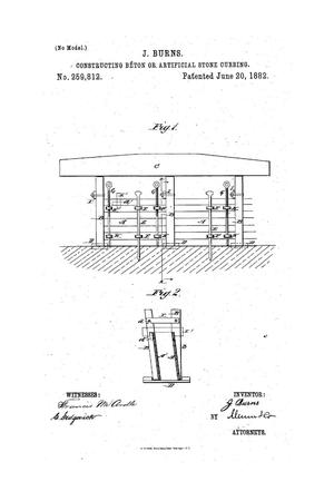 Primary view of object titled 'Constructing Béton or Artificial Stone Curbing.'.