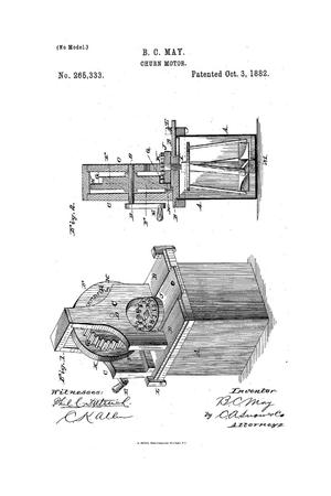 Primary view of object titled 'Churn Motor.'.