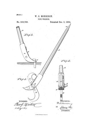 Primary view of object titled 'Pipe Wrench.'.