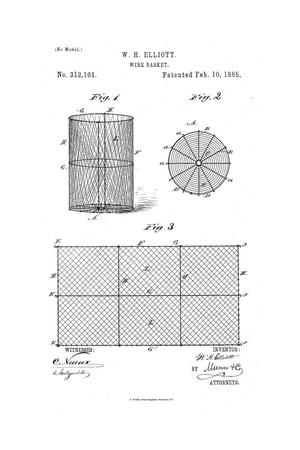 Primary view of object titled 'Wire Basket.'.