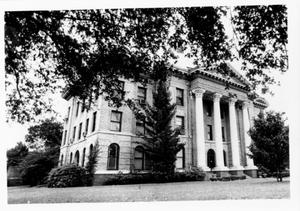 [Fort Bend County Courthouse. Photo taken from under a tree.]